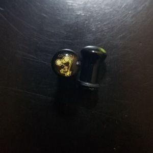 Jewelry - Single Flare Gir 2g Acrylic Plugs